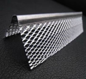 Expanded Steel Angle Bead with Diamond Opening