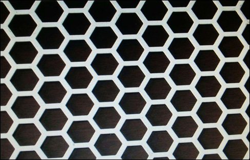 Hexagonal hole perforated sheet for facade decoration