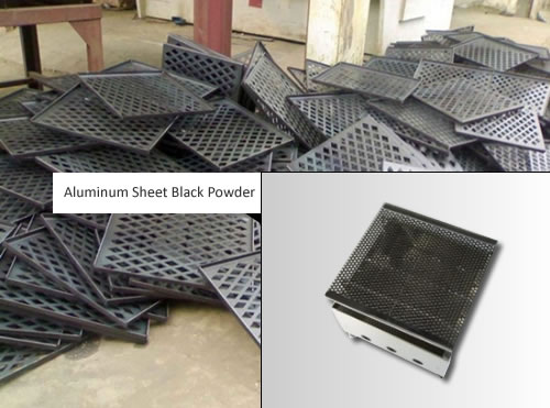 Decorative Mesh in Aluminum Sheet Black Powder Coated for Architectural Screen Panels