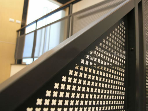 Architectural Perforated Metal Panels : Diamond hole perforated metal wire mesh panels materials