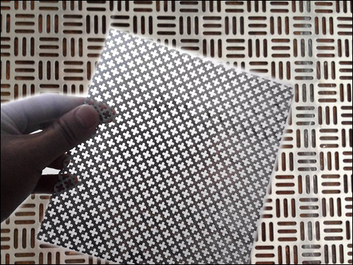 Etched and precison punched metal mesh